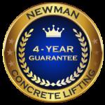Newman Concrete Lifting 4 Year Guarantee